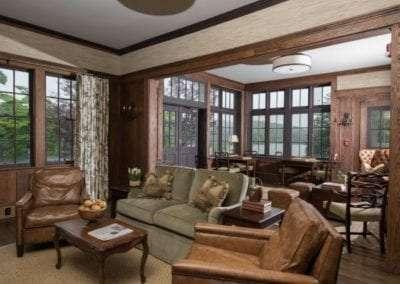 living room at Lake Toxaway Rental 5 bedroom 5 bath Cardinal Zen 14