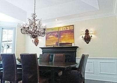 Dining room Huge kitchen at Lake Toxaway Rental 5 bedroom 5 bath Cardinal Zen