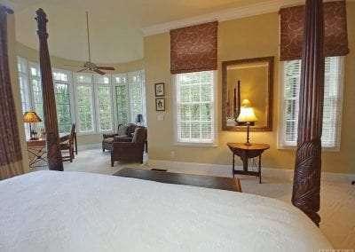 Bedroom at Lake Toxaway Rental 5 bedroom 5 bath Cardinal Zen