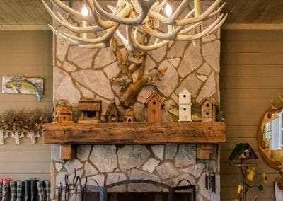 outdoor fireplace at Lake Toxaway Rental 5 bedroom 5 bath Cardinal Zen