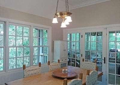 dining room at Huge kitchen at Lake Toxaway Rental 5 bedroom 5 bath Cardinal Zen