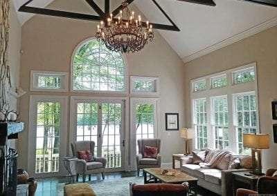 Massive open living room Lake Toxaway Rental Cardinal Zen Outdoor