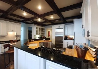 Huge kitchen at Lake Toxaway Rental 5 bedroom 5 bath Cardinal Zen