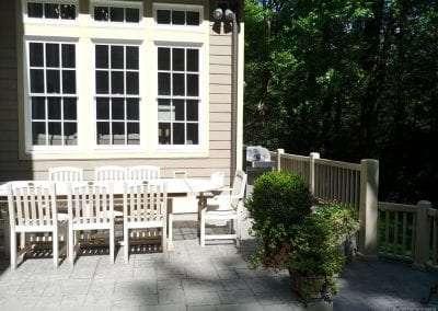 outdoor dining at Lake Toxaway Rental 5 bedroom 5 bath Cardinal Zen