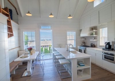 Pristine kitchen with marble counters and top appliances Nantucket Luxurious Harbor View Cottage Walk to everything Lizzie