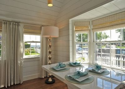 Dining table and gorgeous bay window Nantucket Luxurious Harbor View Cottage Walk to everything1