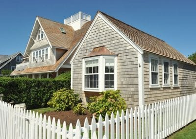View of outside of home. Nantucket Luxurious Harbor View Cottage Walk to everything1