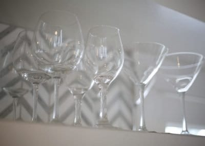 high end glassware at