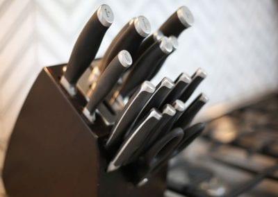 view of knife set at Nantucket Luxurious Harbor View Cottage Walk to everything23