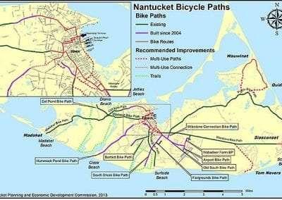 bike path map at