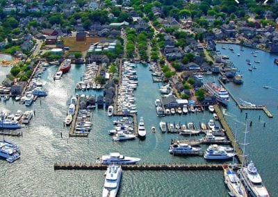 view of harbor and boats Nantucket Luxurious Harbor View Cottage Walk to everything23