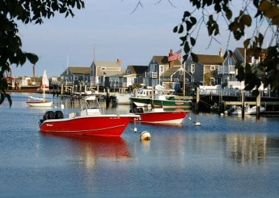 Harbor of All amenities included Nantucket MA Rental Cottage, Water View, Beautiful Beach inspired interior