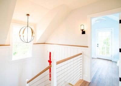 upstairs view of Nantucket MA Rental Cottage, Water View, Beautiful Beach inspired interior