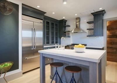 Pristine kitchen with marble and top appliances Rental Cottage Harborview Cindy sleeps 4