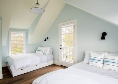 Bedroom with high end linens of Nantucket Rental Home, 5 Star Luxury, Water view2 Bedrooms Millie25