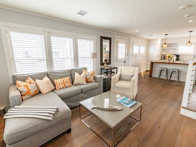 Beautiful open living area in Ackceptional Rental Property in Nantucket MA