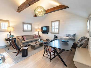 Open Living dining area 2 bedroom Nantucket cottage Ackceptional rentals