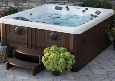 hot tub at Ackceptpional Nantucket Luxury Rentals