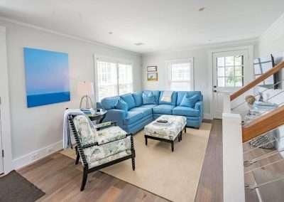 Living area at Ackceptpional Nantucket Luxury Rentals