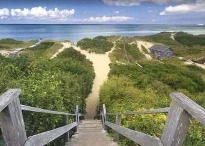 Nantucket beach walkway