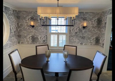 dining room of Nantucket Rental