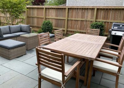 outdoor seating heather cottage of Ackceptional Nantucket Rental